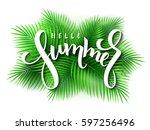 vector illustration of hand... | Shutterstock .eps vector #597256496