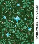 seamless floral wallpaper... | Shutterstock .eps vector #59726830