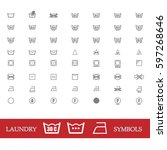 vector icon set of washing... | Shutterstock .eps vector #597268646