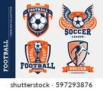 soccer football logo  emblem... | Shutterstock .eps vector #597293876