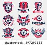soccer football logo  emblem... | Shutterstock .eps vector #597293888