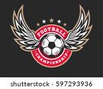 soccer football logo  emblem... | Shutterstock .eps vector #597293936