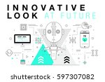 trendy innovation systems... | Shutterstock .eps vector #597307082