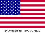 american flag | Shutterstock .eps vector #597307832