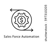 sales force automation vector... | Shutterstock .eps vector #597310205