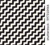 seamless wavy hand drawn... | Shutterstock .eps vector #597310466