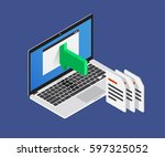 isometric 3d import files.... | Shutterstock .eps vector #597325052