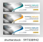 abstract web banner design... | Shutterstock .eps vector #597338942