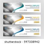 abstract web banner design... | Shutterstock .eps vector #597338942