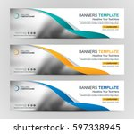 abstract web banner design... | Shutterstock .eps vector #597338945