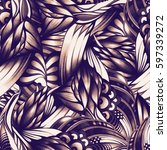 abstract seamless pattern with... | Shutterstock . vector #597339272