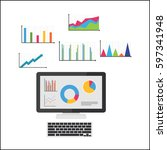 business intelligence. business ... | Shutterstock .eps vector #597341948