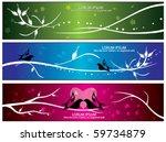 Vector Bird   Flora Banners
