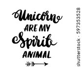 "card with inscription ""unicorn... | Shutterstock .eps vector #597353528"