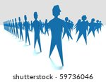 teamwork abstract illustration | Shutterstock . vector #59736046