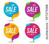 collection of sale labels price ... | Shutterstock .eps vector #597375488