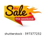 hot sale price offer deal... | Shutterstock .eps vector #597377252