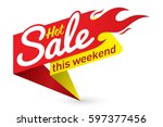 hot sale price offer deal... | Shutterstock .eps vector #597377456