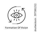 formation of vision vector line ... | Shutterstock .eps vector #597381212