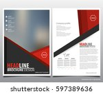 abstract vector modern flyers... | Shutterstock .eps vector #597389636
