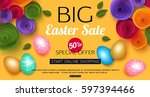 easter sale banner with...