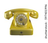 phone yellow old classic