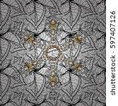 damask seamless pattern for... | Shutterstock . vector #597407126