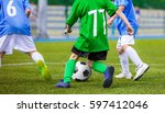 football player running with... | Shutterstock . vector #597412046