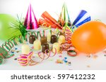 funky party atmosphere  lots of ... | Shutterstock . vector #597412232