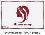 woman icon vector illustration. | Shutterstock .eps vector #597419852
