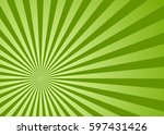 sun rays green  vector... | Shutterstock .eps vector #597431426