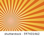 sun rays orange  vector | Shutterstock .eps vector #597431462