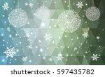 light green vector christmas... | Shutterstock .eps vector #597435782