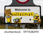 minions   december 2  sign for... | Shutterstock . vector #597438395