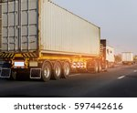container truck on road