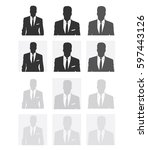 unknown person silhouette. ...   Shutterstock .eps vector #597443126