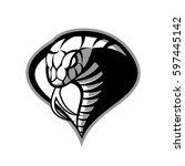 furious cobra head sport vector ... | Shutterstock .eps vector #597445142