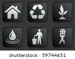 recycle icons on square black... | Shutterstock .eps vector #59744651
