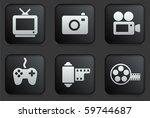 media icons on square black... | Shutterstock .eps vector #59744687