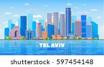 Tel Aviv Israel  Skyline With...