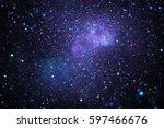 Bright Galaxy. Abstract Stars...
