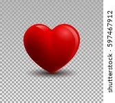 3d illustration of a heart | Shutterstock .eps vector #597467912