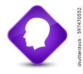 head male face icon isolated on ... | Shutterstock . vector #597470552