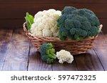Raw Cauliflower And Broccoli