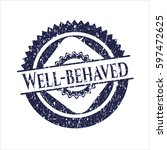 blue well behaved distressed... | Shutterstock .eps vector #597472625
