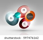 circle modern business... | Shutterstock .eps vector #597476162