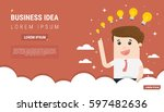 businessman with different size ... | Shutterstock .eps vector #597482636