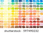 colour palette with... | Shutterstock . vector #597490232
