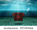 White Mask And Armchair Floats...