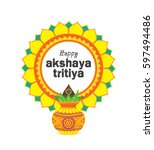 akshaya tritiya celebration... | Shutterstock .eps vector #597494486